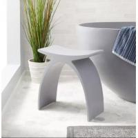 China High Strength Stone Shower Benches Durable Scratch Resistant on sale