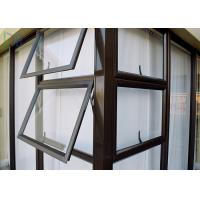 China Multi Color Aluminium Awning Windows Series 50 Fixed Aluminium Top Hung Windows on sale