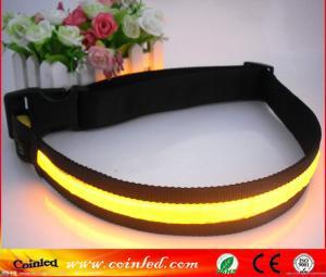 China SAFETY LEGNTH 135CM WIDTH 3.8 CM RAINBOW COLOR NYLON HALO LED BELT on sale