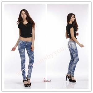 China sexy lady's jeans, snow jeans, stretch jeans, denim  jeans on sale