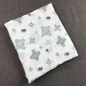 China 120*120cm cheap 100% organic cotton baby blanket muslin swaddle receiving blanket on sale