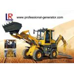 China YUCHAI Engine Heavy Construction Machinery , 2000kg load Medium Backhoe Loader with 1m³ bucket wholesale