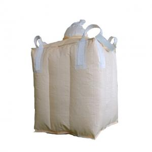 China Baffle 1 Ton FIBC Bulk Bags / Cement Jumbo Bag For Soybean Peanut Corn on sale