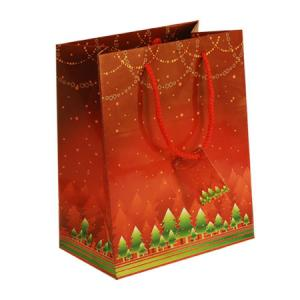 China Custom Logo Printing Red Personalized Paper Gift Bags for Shopping Gift, Cosmetic, Jewellery Packaging on sale