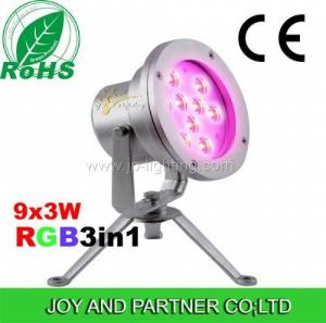 China Stainless Steel 9W Tricolor LED underwater spot light (JP-90036) on sale