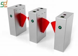 China Stainless Steel Flap Barrier Gate Turnstile Smart Card Reader Control Barrier on sale
