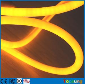 China 12V flexible neon led light IP67 360 degree round rope Christmas light yellow on sale