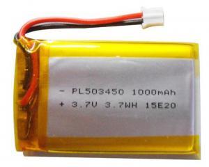 China Custom Li Polymer Rechargeable Battery / Li Poly Battery Pack 1000mAh For Fishing Equipment on sale