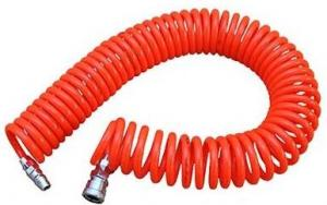 China PU Red Coiled Pneumatic Tube Fittings on sale