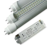SMD3528 8W 50000h 600mm Dimmable Led Light Tube With External DC Drivers, Rotating End Cap