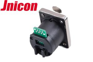 China Waterproof Cat5e Cat6 RJ45 Female Connector Panel Mount For Signal Transmission on sale