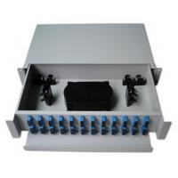 China 19'' Rack Mounted Fiber Optic Distribution Frame ODF Patch Panel Slidable Splice Tray Units on sale