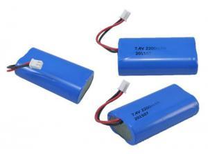 China Eco Friendly Custom Battery Packs / 18650 Li Ion Battery 7.4V 2600mAh on sale