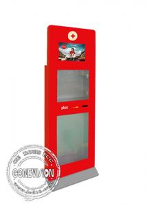 China Advertising Standee Hd Touch Screen Kiosk Digital Signage Totem With Emergency Kit Box on sale