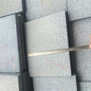 China China Granite Dark Grey G654 Granite Tiles Paving Stone Bush Hammered Surface 20x20x3cm on sale