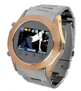 China Reinforced Stainless Steel Touch Screen Watch Phone with 1.5 Inch Screen on sale