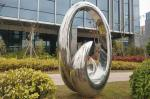 Polished Contemporary 2.0m Height Abstract Metal Outdoor Sculpture