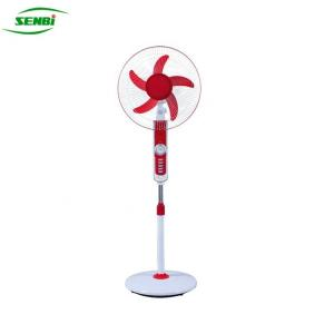 China 16 Inch Solar Rechargeable Stand Fan , 12 Volt Ac Dc Stand Fan With LED LAMP on sale
