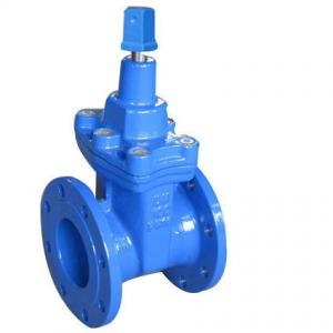 China Stem Sealing DIN 3352 F4 Resilient Seated Gate Valve PN10 / 16 ,  Top Square Head on sale