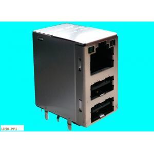 China Dual USB Combo  RJ45 45F-10201DYDXNL10 / 100 / 1000 BASE-TX JACK LPJU5202BONL on sale