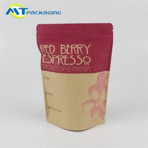 China Plastic Snack Packaging Bags Stand Up Design With Resealable Ziplock on sale