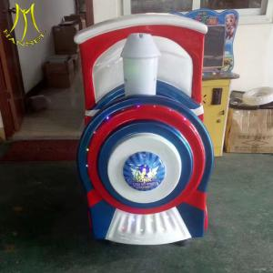 China Hansel fast profits coin operated game machine children electric car for rent on sale