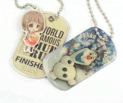 China Zinc Alloy Dog Tags Supplier Customized laser engraved metal luggage tags Necklaces for Decorations on sale