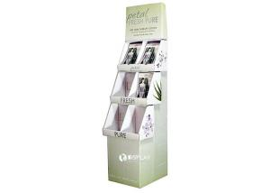 China Eco - Friendly Custom Cardboard Flooring Display Stands , 3 Trays POP Floor Displays on sale