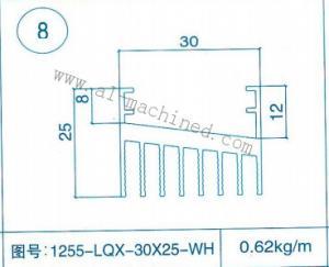 China Item 8,customized Square Aluminum Heatsink in china,aluminum profiles,extruded profiles,LED Street Light Heatsink on sale