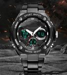 Men's Steel Sport Top Clock  Luxury Mark Quartz Clock Men's Water Test Clock S Male Military Watches