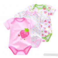 Lovely 3 Pack Baby Clothes Gift Set Shorts Leeve Bodysuits 100% Cotton