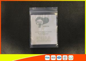 Quality Customized Clear Reclosable Industrial Ziplock Bags , Small Plastic Zip Bags For Storage for sale