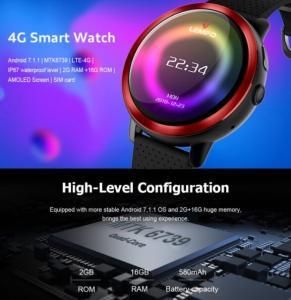 China LEMFO LEM8 2G+16G 4G-LTE Watch Phone IP67 Waterproof Customized Watch Face Smart Watch on sale