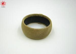 China Fashionable Bridal Blonde Wrap Fabric Bangle Bracelet Resin Jewellery on sale