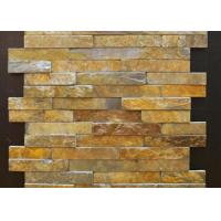 Yellow And Gray Slate Culture Stone Veneer For Flast Wall Cladding Decor