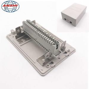 China Network Cable Distribution Box 10/20/30 Pair Telephone Module Surface Mounting Insert Type on sale