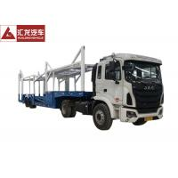 Goose Neck Car Carrier Truck , ABS Automobile Transport Trailers 14200KG Payload