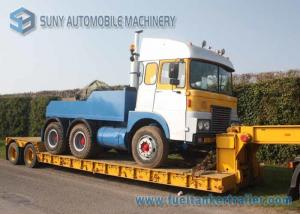 China 11 m Extendable Low Bed Trailer 2 Axles Gooseneck Detachable Lowbed Semi Trailer on sale