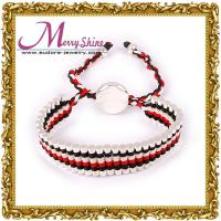 2012 new style red, white, black combined links friendship bracelets for ornament LS027