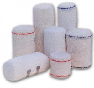 China Cotton Elastic Bandage For Surgery Dressing 5cm*4.5m Medical Bandage Tape on sale