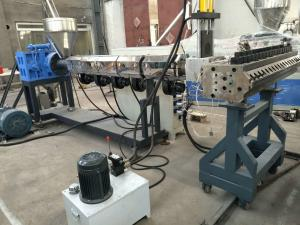 China PVC WPC Plastic Board Machine With Double Screw Impact Resistance on sale
