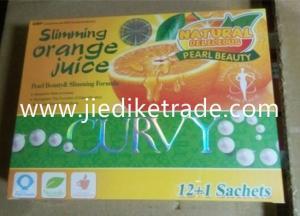 China Curvy Slimming Orange juice 100% herbal weight loss &Delicious fat burner orange juice on sale