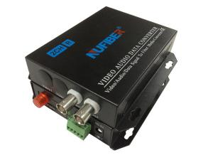 China Fiber Coaxial Video Converter 2BNC 1 Fiber Video Transmitter and Receiver for CCTV on sale