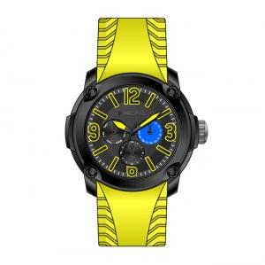 China Automatic Mechanical Watch , Silicon Band Multifunction Watches For Men on sale