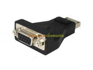 China 3.3V Laptops DisplayPort To VGA Converter Adapter For Dell / Acer Aspire / HP ProBook on sale