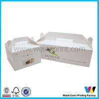 China White Wedding Cake Boxes With Handle , Cardboard Cake Boxes With Customer LOGO on sale