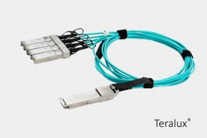 China 40G QSFP+ to 4x 10G SFP+ Fan-Out Active Optical Cable (AOC) on sale