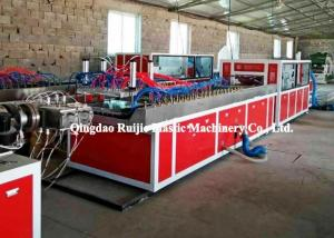 China Stable PVC Profile Production Line / WPC Profile Extrusion Line Door Decoration on sale