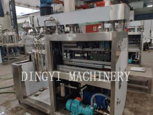 China PLC Touch Screen Control Vacuum Emulsifying Mixer With Mirror Polishing Tank on sale