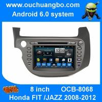 Ouchuangbo car radio  touch screen android 6.0 for Honda FIT JAZZ 2008-2012 with gps navigation bluetooth